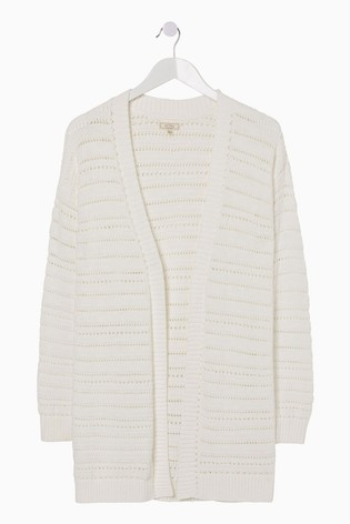 FatFace White Georgia Cardigan