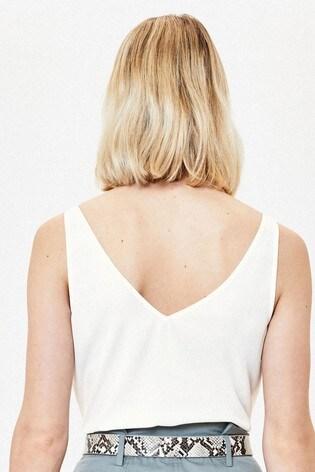 Oasis White Formal Vest