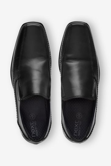 Buy Leather Panel Slip-On Shoes from