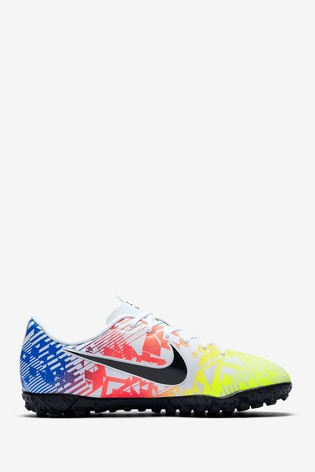 Nike White Mercurial Vapor 13 Academy Neymar Jr. Turf Junior and Youth Football Boots