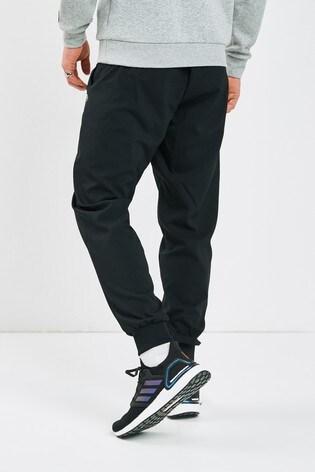 adidas Essentials Black Linear Joggers