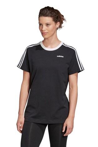 adidas Black Essential Boyfriend Fit T-Shirt