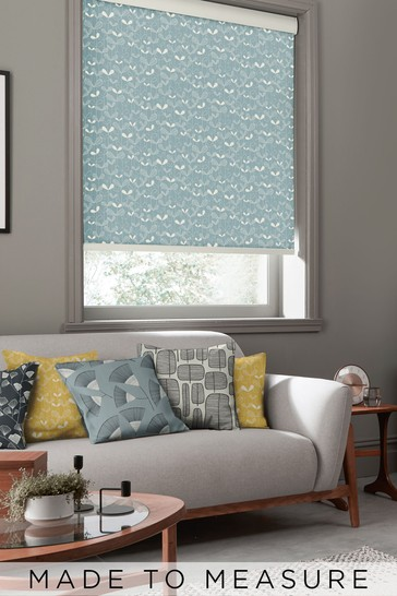 Saplings Ether Blue Made To Measure Roller Blind by MissPrint