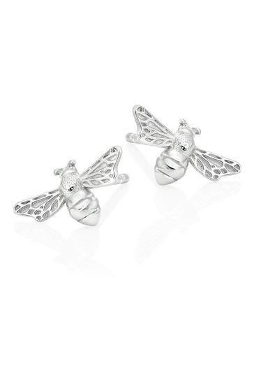 Beaverbrooks Silver Bee Stud Earrings