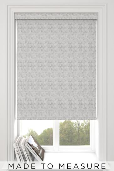 Glamour Metallic Grey Made To Measure Roller Blind
