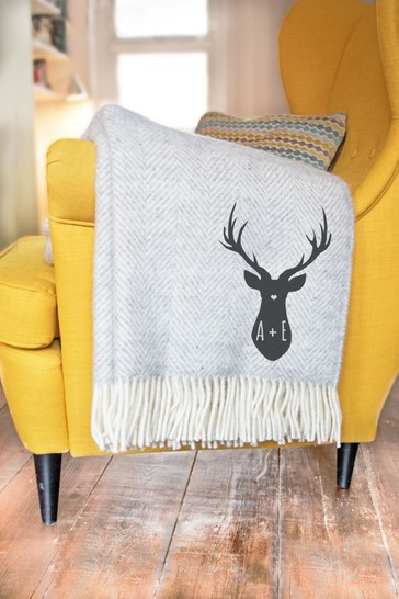 Personalised Stag Throw by Jonnys Sister
