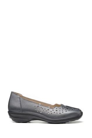 Hotter Metallic Zoe Wide Fit Slip-On Pump Shoes