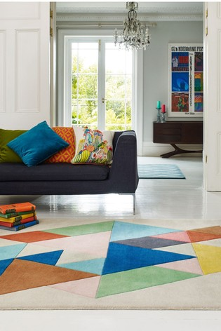 Reef Wool Triangle Rug by Asiatic Rugs