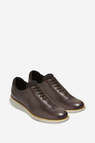 Cole Haan Brown 2.Zerogrand Laser Wingtip Lace-Up Shoes