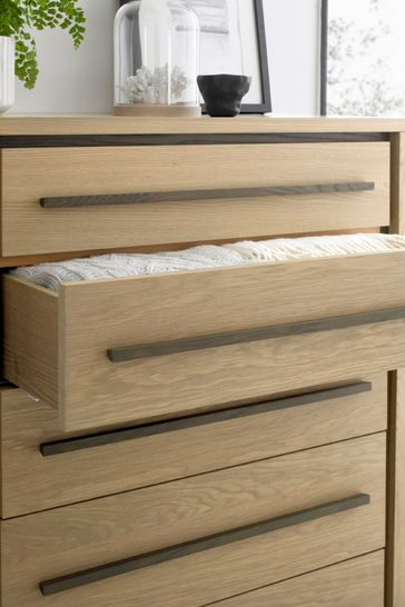 Rimini Oak 5 Drawer Chest by Bentley Designs
