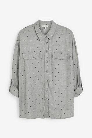 Grey Marl Dobby Utility Shirt