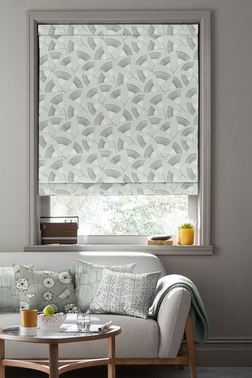 Persia Platinum Grey Made To Measure Roman Blind by MissPrint