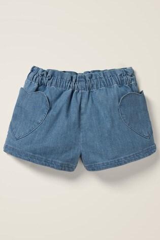 Mini Boden Denim Heart Pocket Shorts