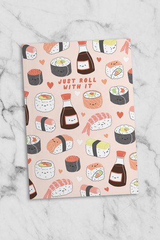 Central 23 Sushi Just Roll With It Notebook