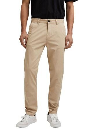 Esprit Cream Basic Chino Trousers