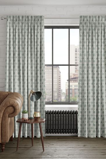 Hallam Seafoam Green Made To Measure Curtains