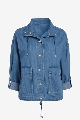 Blue Drawcord Jacket