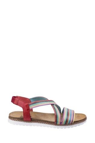 Riva Red Dante Multi Leather Sandals