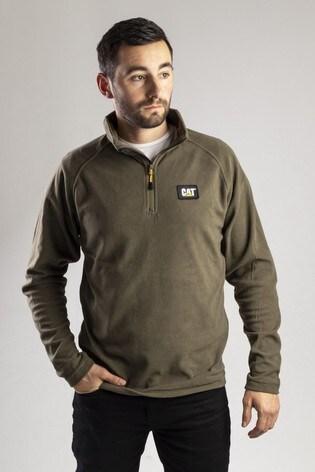 CAT® Green Fleece Pull Over Sweatshirt