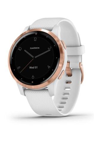 Garmin vívoactive® White/Rose Gold 4S GPS Smartwatch