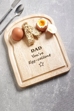 Personalised Daddy's Egg Board by Loveabode