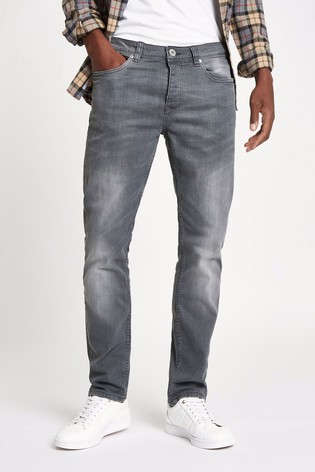 River Island Grey Wash Slim Dylan Jeans