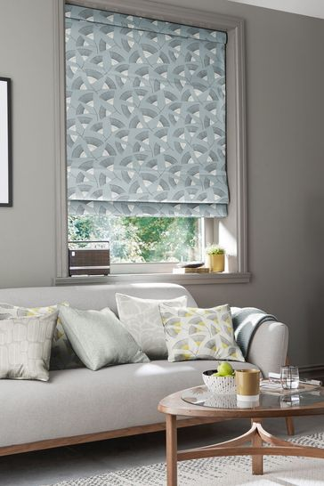 Persia Silversea Blue Made To Measure Roman Blind by MissPrint