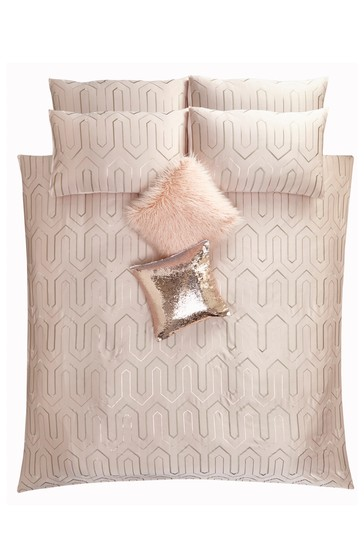 Tess Daly Phoebe Art Deco Sequin Duvet Cover and Pillowcase Set
