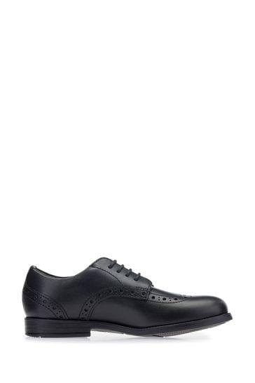 Start-Rite Brogue Pri Black Leather Wide Fit Shoes