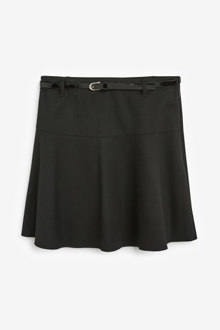 Black Senior Belted Skirt (9-16yrs)
