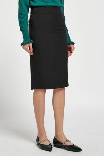 Black Shapewear Pencil Skirt