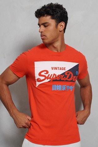 Superdry Organic Cotton Vintage Logo Primary T-Shirt