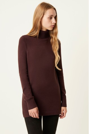 French Connection Purple T-Neck Slim Fit Tunic