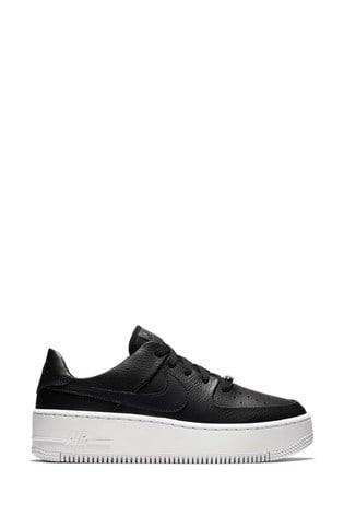 Buy Nike Black/White Air Force 1 Sage