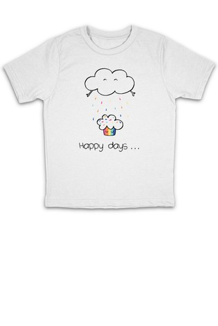 Personalised Rainbow Characters Printed T-Shirt
