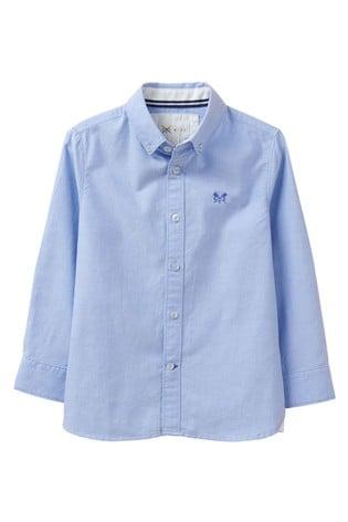 Crew Clothing Company Blue Oxford Shirt