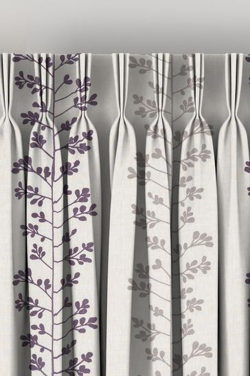 Gerogia Berry Purple Made To Measure Curtains
