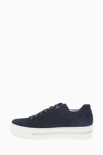 Gabor Heather Bluette Suede Trainers