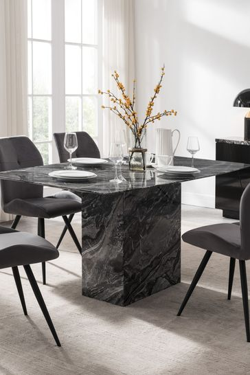 Indigo Dining Table with 4 Chairs by Alfrank