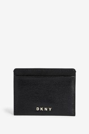 DKNY Black Bryant Leather Card Holder