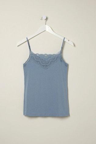 FatFace Blue V-Neck Lace Vest