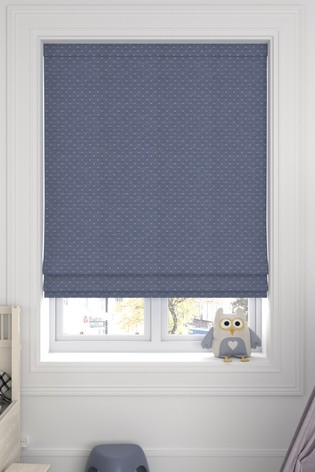 Windsor Navy Blue Made To Measure Roman Blind