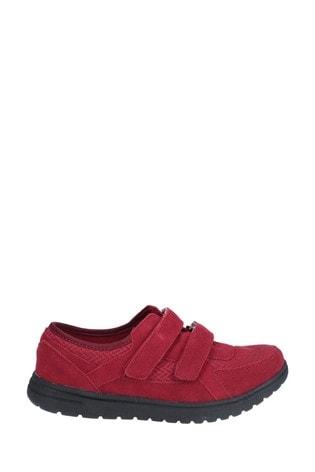 Fleet & Foster Red Jean Touch Fasten Shoes