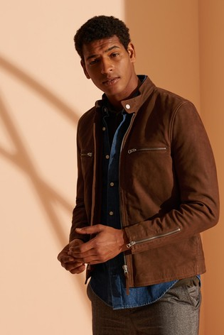 Superdry Sports Racer Nubuck Jacket