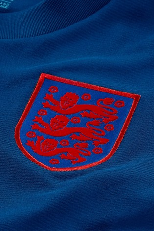 Nike Blue England Breathe Strike T-Shirt