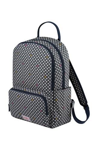 Cath Kidston Blue Pocket Backpack Shadow Flower Pop