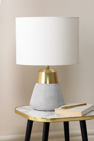 Village At Home Jasper Grey And Gold Table Lamp