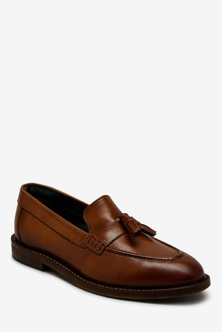Tan Italian Leather Loafers