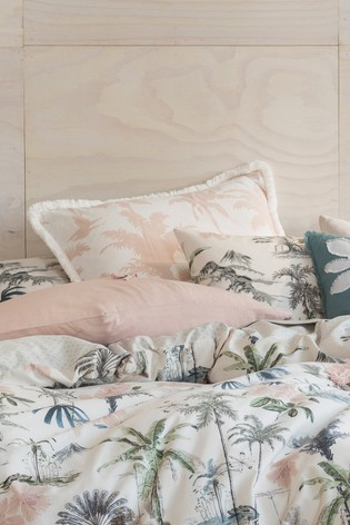 Luana Palm Print Pillowcase Sham by Linen House