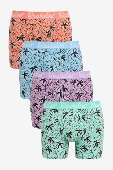 Boardies at Next Flair Palm A-Fronts 4 Pack